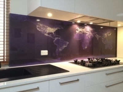 digital image world map glass splashbacks