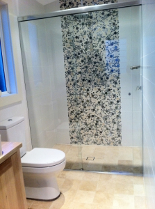glass shower panel perth